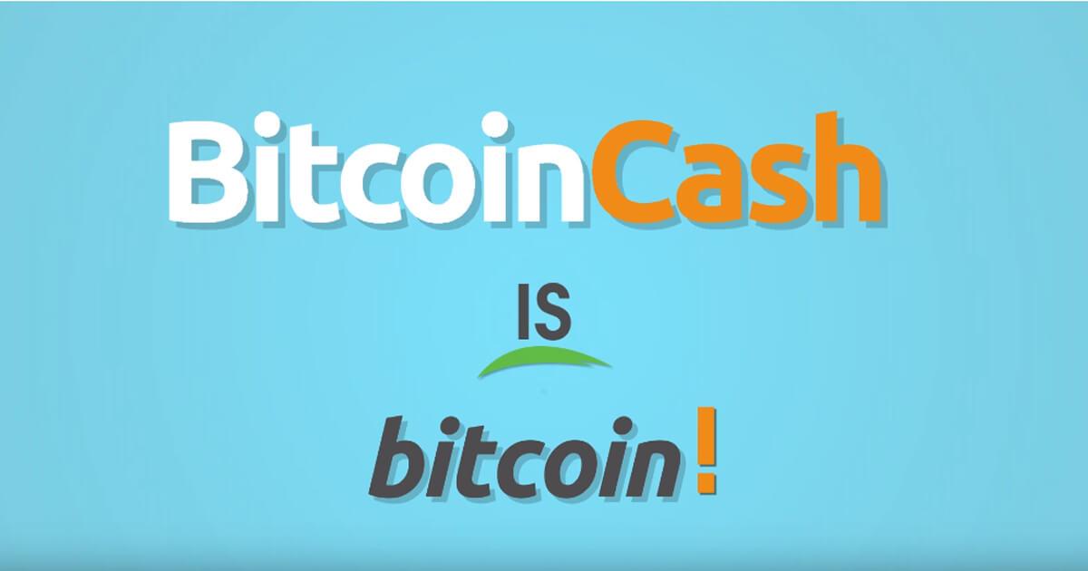 Bitcoin Cash is Bitcoin! Use Bitcoin Cash