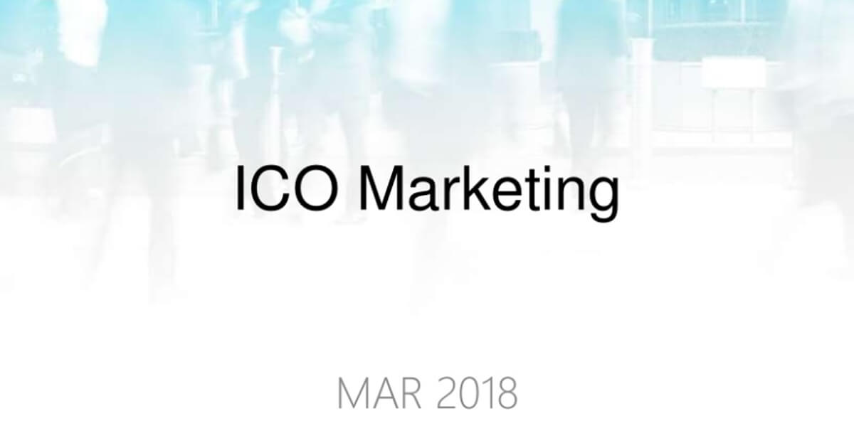 ICO Marketing by CoinPoint, 2018